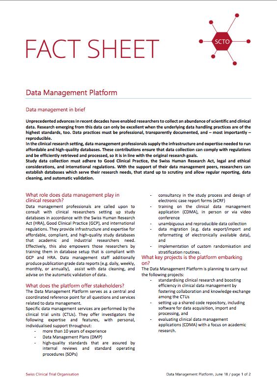 Datenmanagement - SCTO